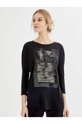 Xint Kadın Siyah Tişört 0