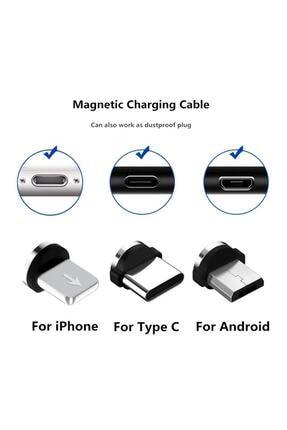 Suba Iphone Android Samsung Manyetik Mıknatıslı Micro Usb Type-c Uyumlu Şarj Kablosu 1