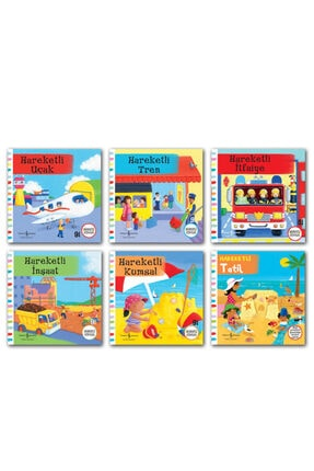 İş Bankası Kültür Yayınları Hareketli Kitaplar Set Ciltli 6 Kitap Uçak Itfaiye Tren Tatil Inşaat Kumsal 2-5 Yaş 0