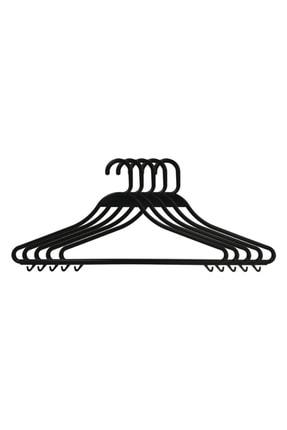 Entude 24 Adet Plastik Elbise Askısı Siyah,kuru Temizleme Kıyafet Askısı 0