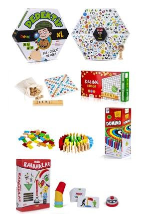 BEMİ Dedektif & Kelime Oyunu & Domino & Hızlı Bardaklar Aile Kutu Ve Eğlence Oyunu 0