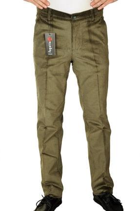 Erkek Kışlık Çağla Kadife 8 Fitil Yan Cep Klasik Kesim Pantolon fgt6000