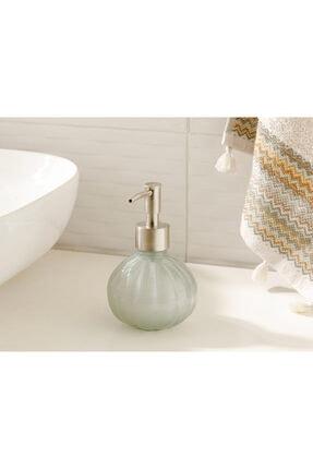 English Home Royal Cam Banyo Sıvı Sabunluk 9x9x13,5 Cm Gri 0