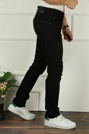 çerme Erkek Siyah Comfort Geniş Bol Kesim Jean Pantolon 1
