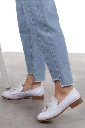 Mio Gusto Dylan Beyaz Oxford Ayakkabı 4