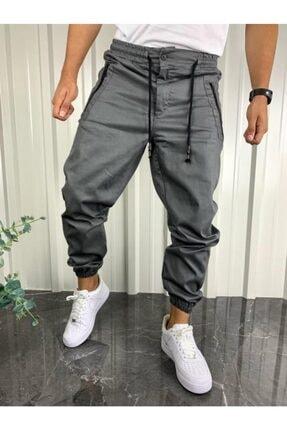 İnsane Minds Erkek Gri Jogger Fermuar Detaylı Pantolon 0