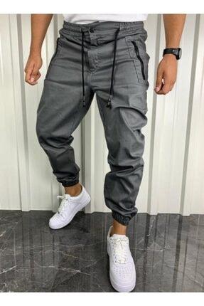 İnsane Minds Erkek Gri Jogger Fermuar Detaylı Pantolon 1