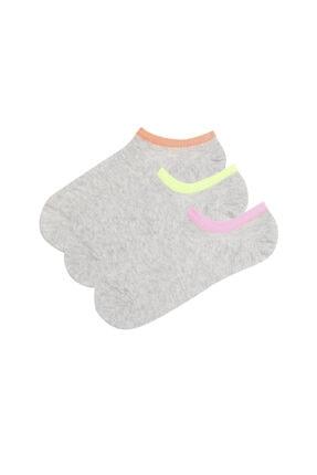 Penti Gri Super Fit 3lu Babet Çorabı 0