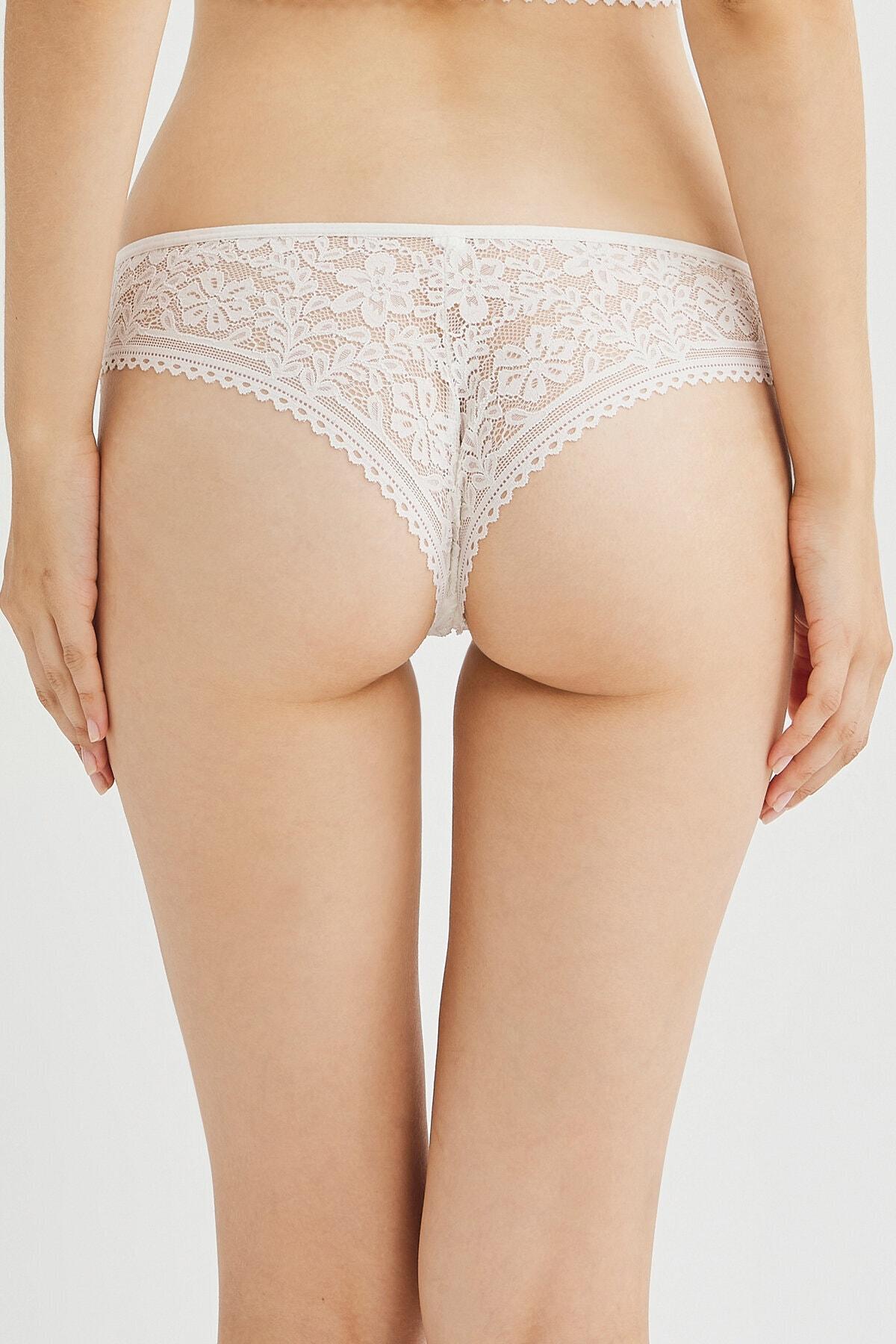 Penti Kar Beyaz Passion Lace Brazilian Külot