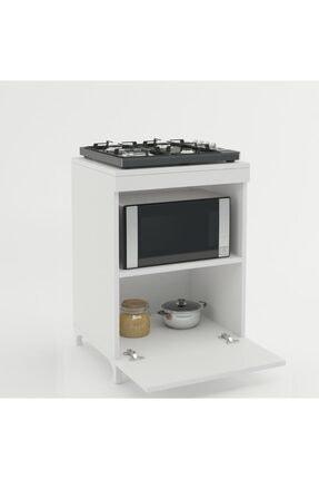 Kenzlife Beyaz Mutfak Ocak Dolabı 85*60*57 0