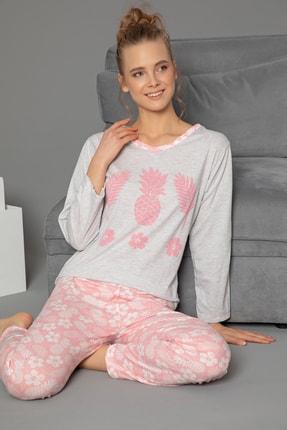 Strawberry Pamuklu Baskılı Uzun Kol Pijama Takım 0