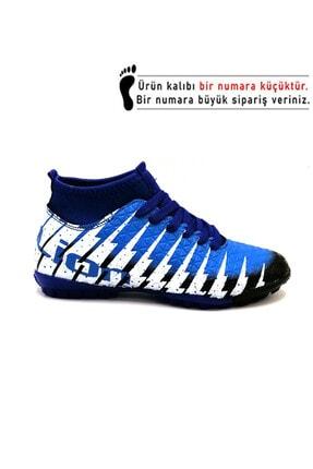 Lion 1453 Siyah Sax Çoraplı Halısaha Futbol Ayakkabısı 0