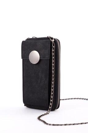 Espardile Kadın Siyah Zincir Askılı Mini Çanta 0449 3