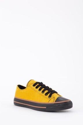 Espardile Kadın Sarı Lüks Süet Spor Ayakkabı 3