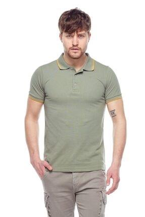 Tena Moda Erkek Açık Haki Polo Yaka Tişört 0
