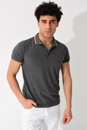 Tena Moda Erkek Füme Polo Yaka Tişört 0