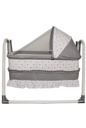 bebegen Elit Portatif Sallanır Bebek Beşik Gri 1