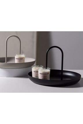 Fiyakalı Ürünler Makyaj Malzemesi Toparlayıcısı,çerezlik,anahtarlık,metal Sunumluk,dekoratif Tabak (SİYAH) 2