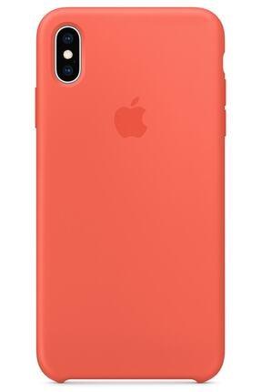 Ebotek Iphone Xs Max Kılıf Silikon Içi Kadife Lansman Turuncu 0
