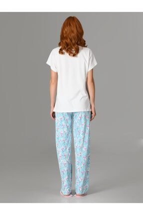 Nbb Love Flamingo Kadın Pijama Takımı 66728 2