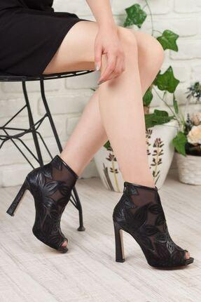 Adım Adım Siyah Kalın Topuklu Kadın Stiletto Ayakkabı • A192yrjb0019 3
