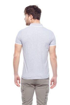Tena Moda Erkek Gri Melanj G-1 Polo Yaka Tişört 3