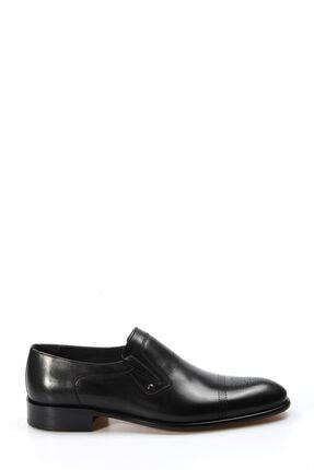 Fast Step Hakiki Deri Kösele Siyah Antik Erkek Klasik Ayakkabı 893ma4404 1