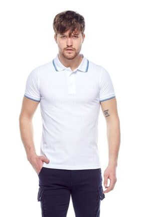 Tena Moda Erkek Beyaz Polo Yaka Tişört 0