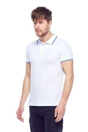 Tena Moda Erkek Beyaz Polo Yaka Tişört 2