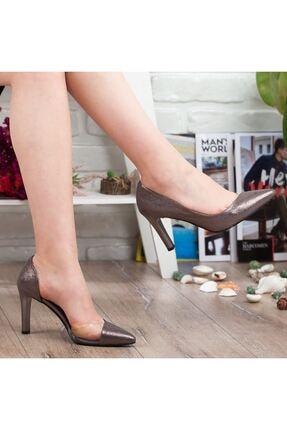 Adım Adım Platin Stiletto Yüksek Topuk Abiye Gelin Kadın Ayakkabı • A192ymon0018 2