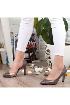 Adım Adım Platin Stiletto Yüksek Topuk Abiye Gelin Kadın Ayakkabı • A192ymon0018 3