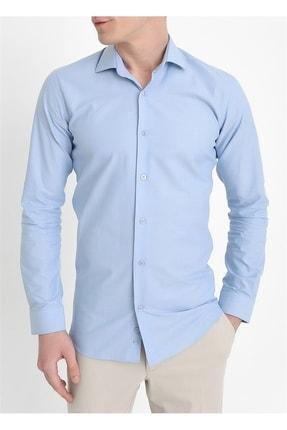 Efor Gk 549 Slim Fit Mavi Klasik Gömlek 1