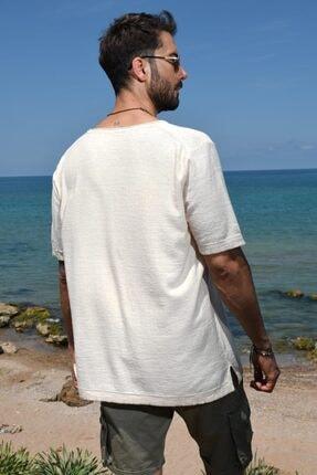 CHUBA Erkek Bisiklet Yaka Oversize Triko T-shirt 20s404 2