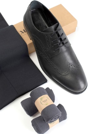 Moodligo Premium 6'lı Erkek Bambu Çorap - 2 Siyah 2 Lacivert 2 Füme 4