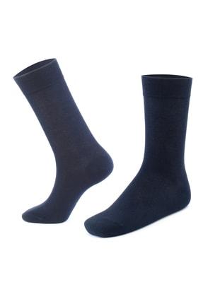 Moodligo Erkek Lacivert Premium 6lı Bambu Çorap 1