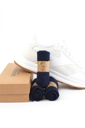 Moodligo Premium 6'lı Bambu Patik Erkek Çorap 2 Siyah 2 Füme 2 Lacivert 4