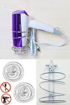HAYATINIZI KOLAYLAŞTIRIN Vantuzlu Metal Saç Kurutma Makinesi Askısı 0