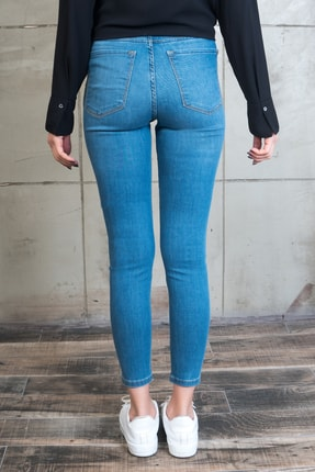 Desperado Kadın Mavi Likralı Yüksek Bel Jean 5060107-887 2