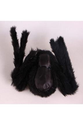 Samur Siyah Renk Tüylü Şekil Verilebilir Halloween Mega Örümcek 75 Cm 3