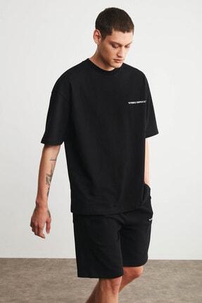GRIMELANGE COLOMBIA Erkek Siyah Renk Şort T-shirt Eşofman Takımı 3