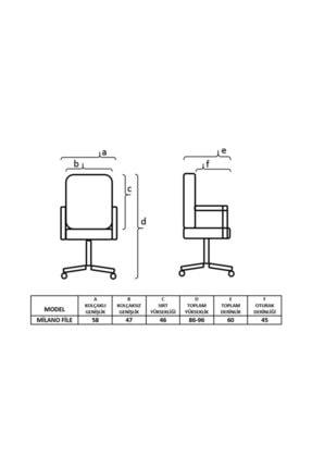 TOMAR Fileli Kollu Personel Koltuğu Ofis Koltukları Bilgisayar Koltuğu Sekreter Sandalyesi - Pembe 1