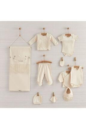 Bebbek Kız Bebek Ekru Butterfly Organik 10'lu Hastane Çıkışı 19-052 0