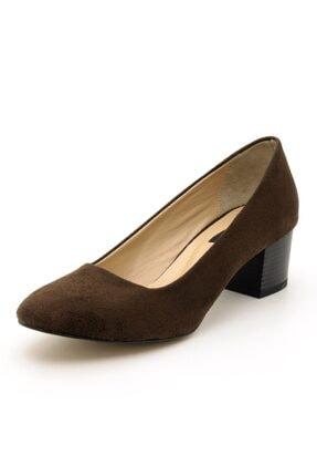 İriadam 1453 Kahve Süet Topuklu Büyük Numara Kadın Ayakkabıları 3