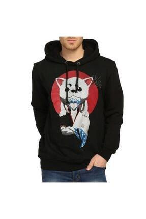 Bant Giyim - Gintama Siyah Kapüşonlu Sweatshirt 0