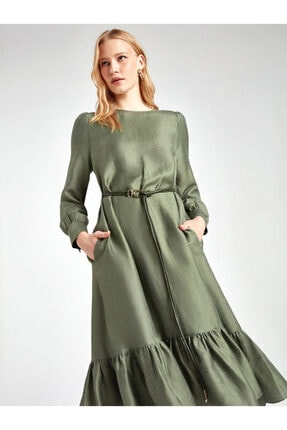 Nocturne Etek Ucu Volanlı Elbise 2