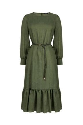 Nocturne Etek Ucu Volanlı Elbise 4