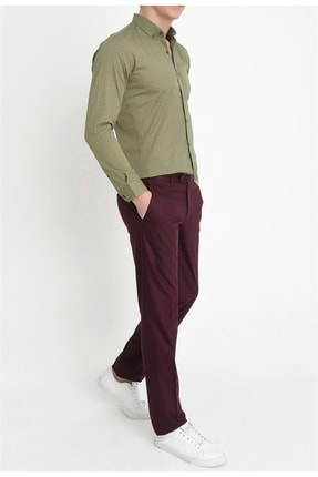 Efor P 888 Slim Fit Bordo Klasik Pantolon 1
