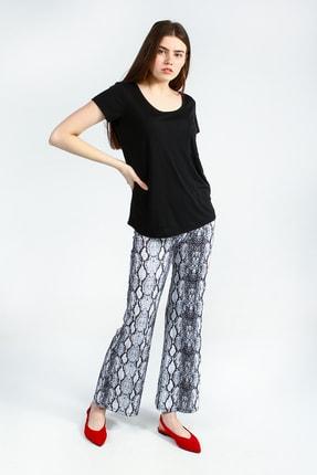 Collezione Sıyah Kısa Kollu Basic Kadın Tshirt 2