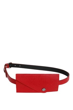 Collezione Kırmızı Çıt Çıt Kapamalı Cüzdanlı Kadın Kemer 0