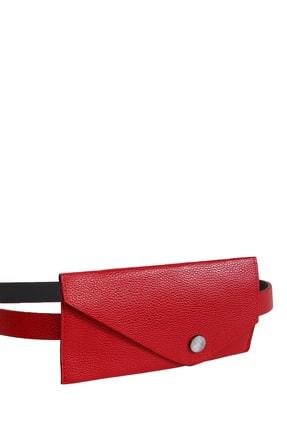 Collezione Kırmızı Çıt Çıt Kapamalı Cüzdanlı Kadın Kemer 1